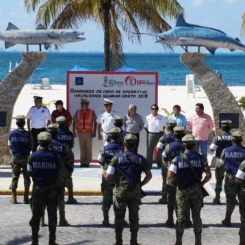 En marcha operativo Semana Santa en Isla Mujeres