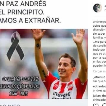 Andrés Guardado denunció una noticia de su supuesta muerte