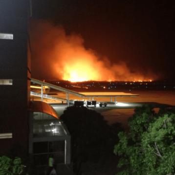 Incendio paraliza aeropuerto de Tuxtla Gutiérrez, Chiapas