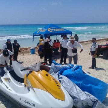 Fuerzas de seguridad realizan operativo para prevenir el delito en playas y avenidas de Cancún