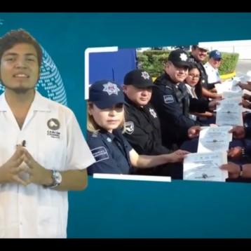RECONOCEN A POLICÍAS PESE A INSEGURIDAD EN CANCÚN