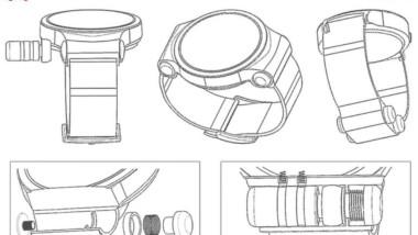 Huawei quiere fabricar un smartwatch que puede almacenar un par de auriculares inalámbricos