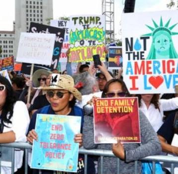 Miles marcharon a favor de los migrantes en los Estados Unidos