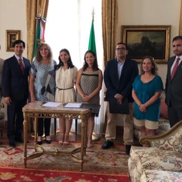 La senadora Luz María Beristain se reúne con funcionarios de Europa