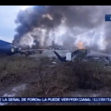 Se desploma avión de Aeroméxico a pocos minutos de despegar del Aeropuerto Guadalupe Victoria