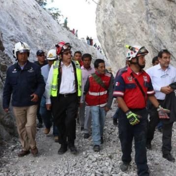 Suman tres muertos por derrumbe en mina de Hidalgo