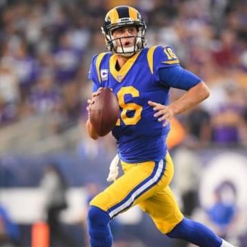Con cinco pases de anotación de Jared Goff, Rams se imponen a Vikings