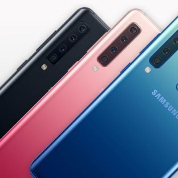 Samsung presenta su Galaxy A9 con cuatro cámaras traseras