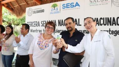 Se une Solidaridad a la Tercera Semana Nacional de Vacunación 2018
