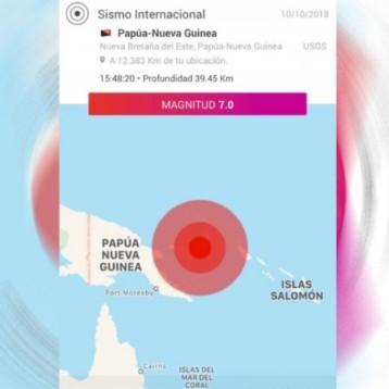 Sacude sismo de magnitud 7 a Papúa Nueva Guinea; hay alerta de tsunami