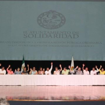 Reanudan sesión pública de Cabildo en Solidaridad y aprueban nombramientos