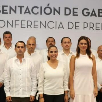 Presenta Mara Lezama a los integrantes de su gabinete: varios repiten