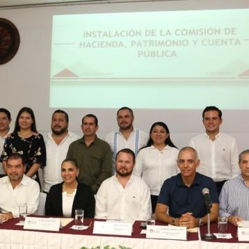 Instalan comisión de Hacienda, Patrimonio y Cuenta pública en Benito Juárez