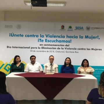 En coordinación con la sociedad civil, personal de SESA realiza jornada contra la violencia hacia las mujeres
